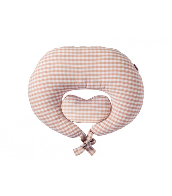 Sunveno Pregnancy & Feeding Heart Pillow-Pink