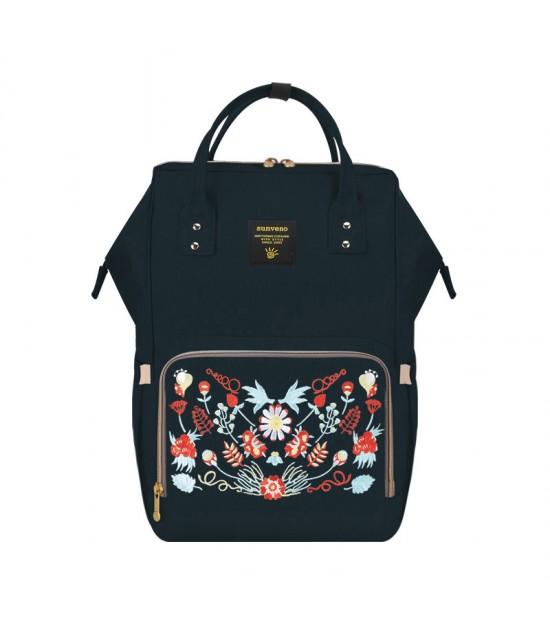 Sunveno Diaper Bags - Black Embroidery