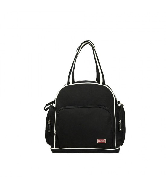 Sunveno Signature Maternity Diaper Bag - Black