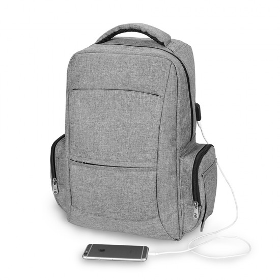Alameda Unix Diaper Bag with USB charging cable - Grey