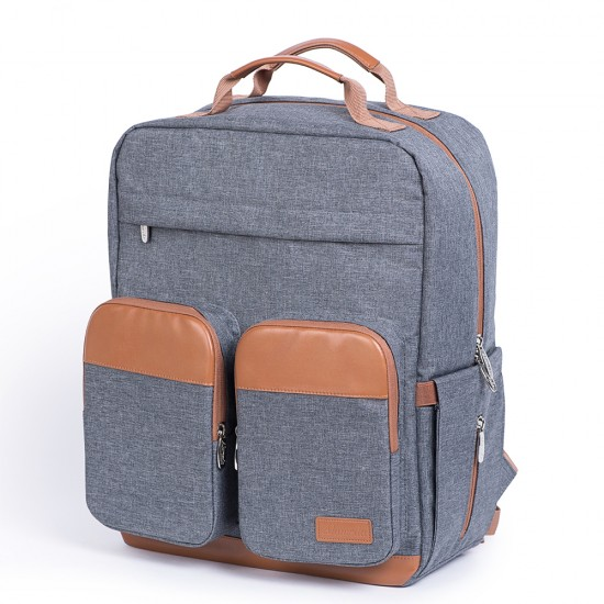 Alameda Pocketer Diaper Backpack - Large - Grey