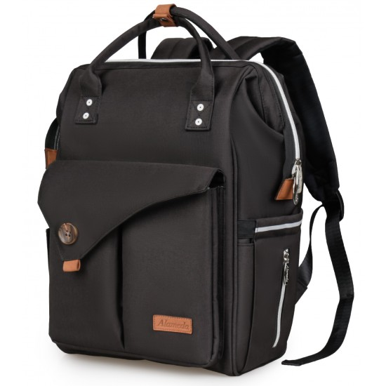 Alameda Diaper Backpack - Large - Jet Black