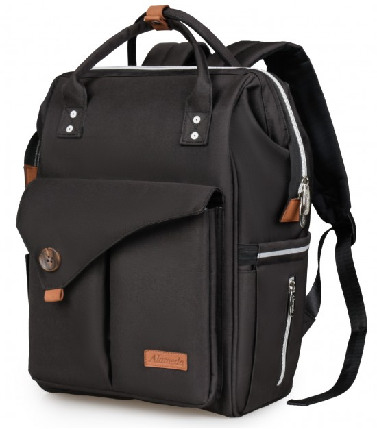 Alameda Diaper Backpack - Large - Jet Black