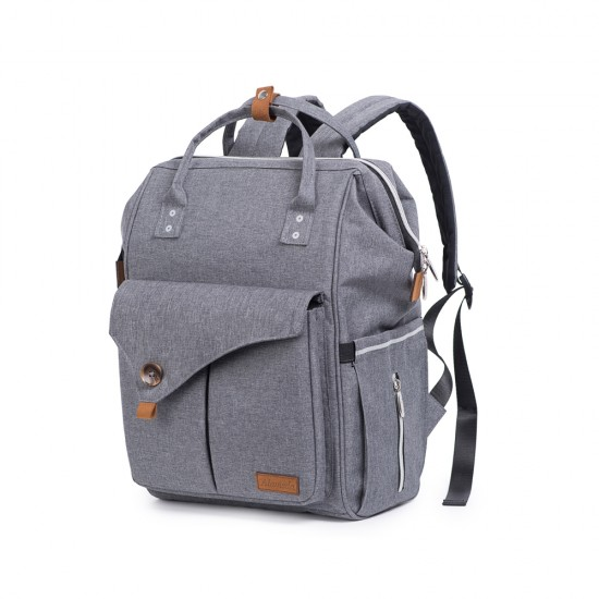 Alameda Diaper Backpack - Large - Grey