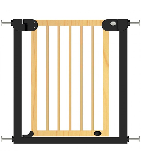 Baby Safe Wooden Safety Gate - Natural Wood