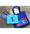 Nohoo Dinosaur Tote Bag and Bento Lunch Box-Blue