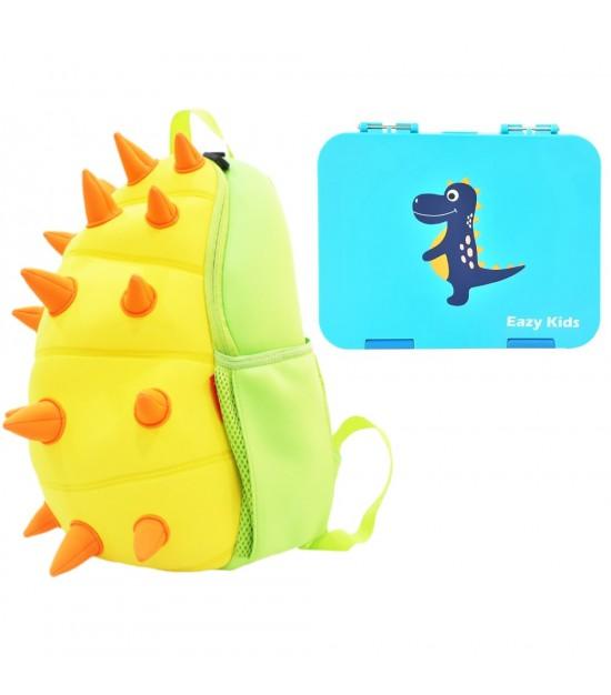 Nohoo Spiky Dinosaur School Set - Yellow