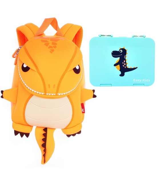 Nohoo T-Rex  Backpack and Bento Lunch Box - Green