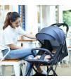 Teknum Grey Travel Lite Stroller + Sunveno Diaper Bag Black with Hooks