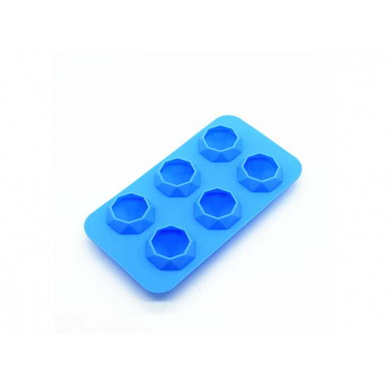 Eazy kids Diamond Ice Tray with 6 cavity- Blue