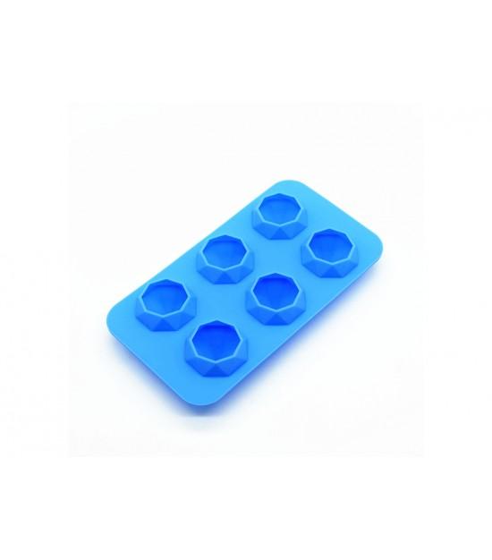 Eazy kids Diamond Ice Tray with 6 cavity- Blue