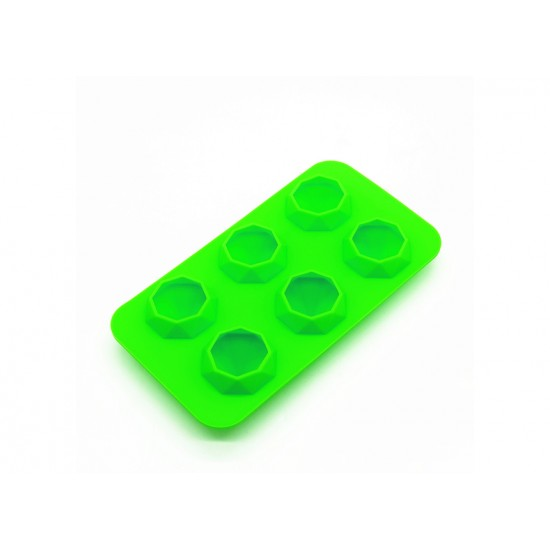 Eazy kids Diamond Ice Tray with 6 cavity- Green