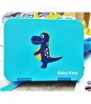 Eazy Kids 6 & 4  Convertible Bento Lunch Box - Dino Blue