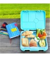 Eazy Kids 6 Compartment Bento Lunch Box - Dino Green
