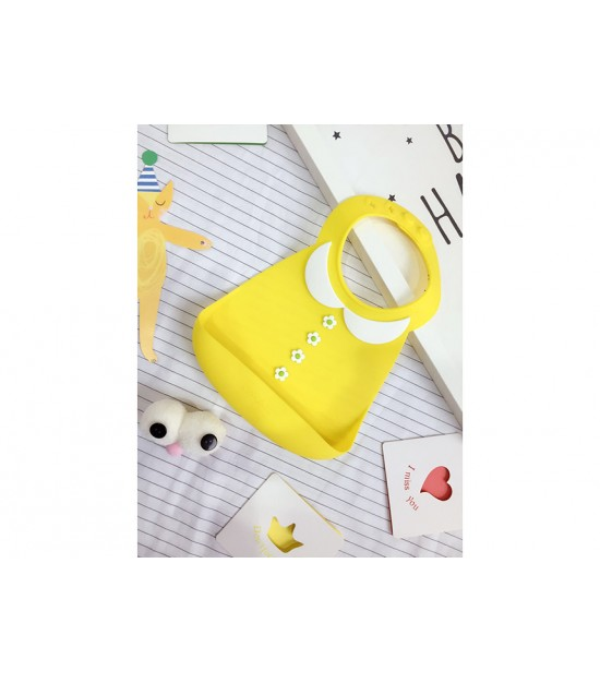 3-D Silicon Designer Bib-Yellow and White Collar