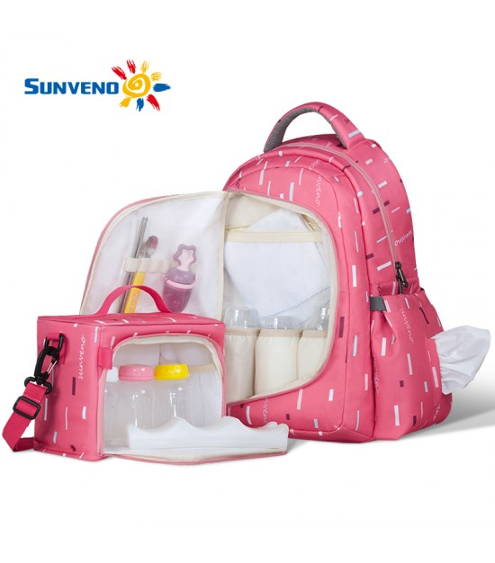 Sunveno 2in1 Diaper Bag-Pink