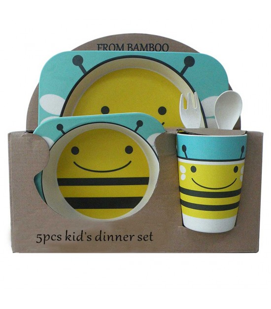 Eazy Kids Bamboo Fibre 5 pieces Dinner set - BEE