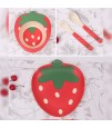 Eazy Kids Bamboo Fibre 5pieces Dinner set - Strawberry