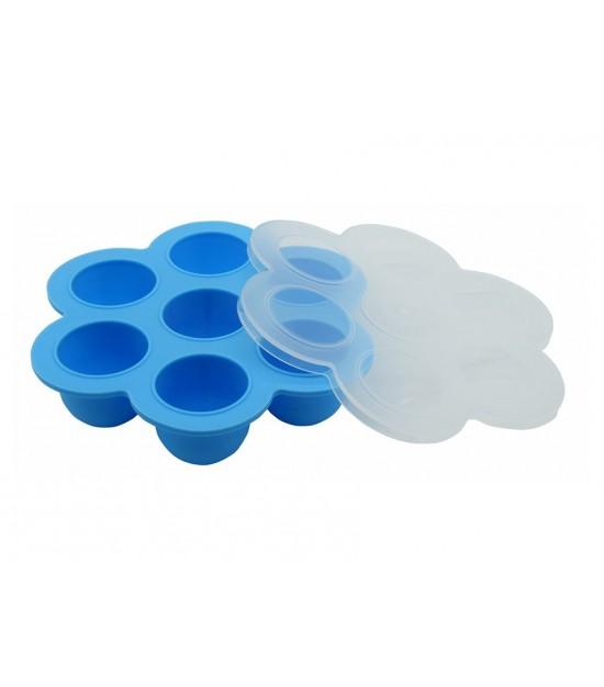 Eazy Kids 7 cavity food freezer tray Blue