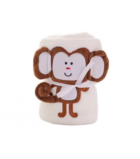 Eazy Kids Plush Blanket Monkey