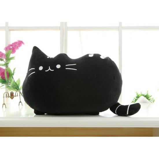Pusheen Cat Pillow - Black