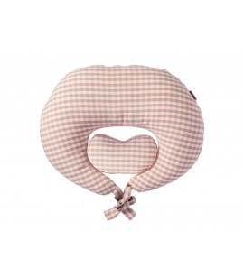 Sunveno Pregnancy & Feeding Heart Pillow- Organic Cotton - Pink