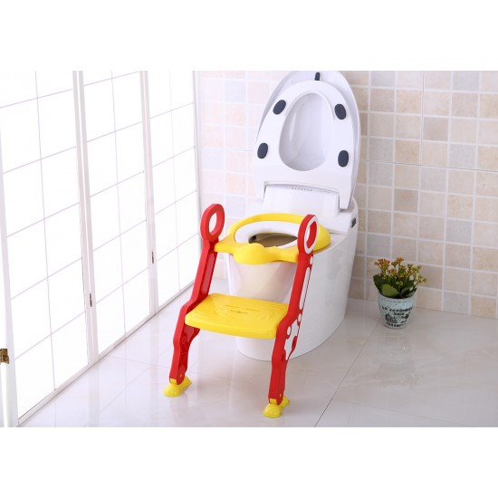 Eazy Kids Step Stool Foldable Potty Trainer Seat- Yellow