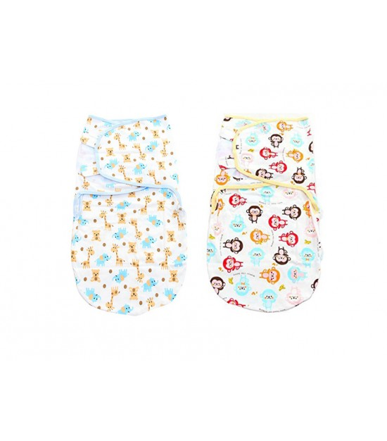 Eazy Kids - Baby Swaddling Wraps - Zoo & Monkey
