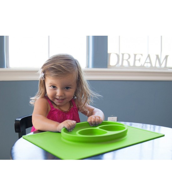 Eazy Kids Plate - Square Green