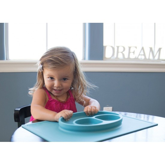 Eazy Kids Plate - Oval Blue