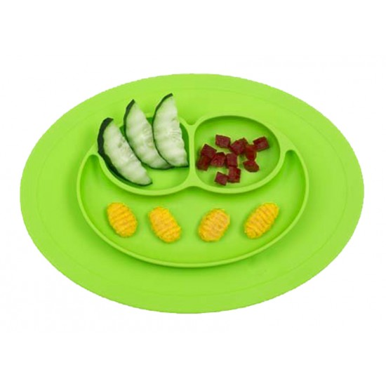 Eazy Kids Plate - Oval Green
