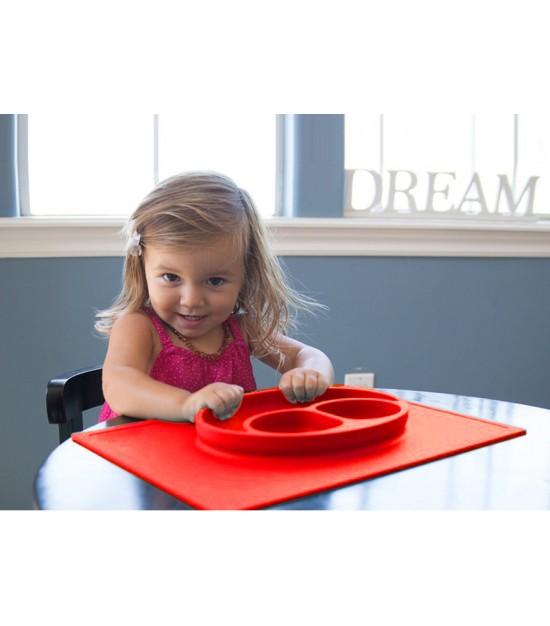 Eazy Kids Plate - Oval Red