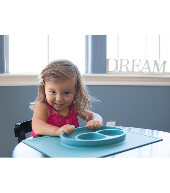 Eazy Kids Plate - Square Blue