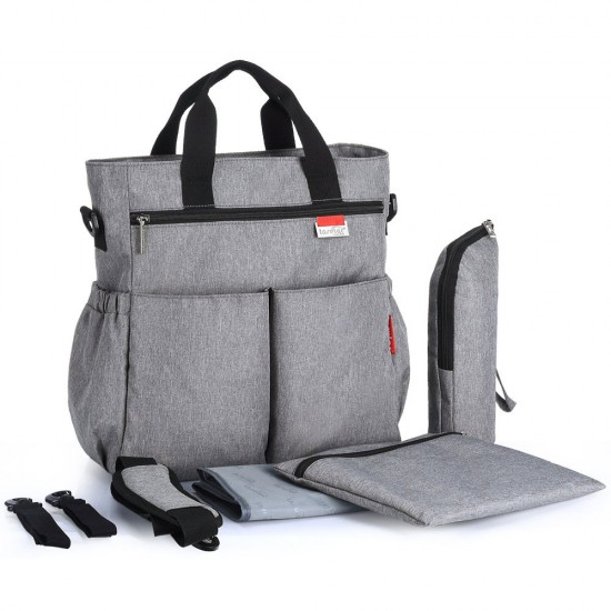 Insular - Signature Diaper Bag XL - Grey