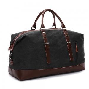 Sb Weekender Leather Duffle Bag Black