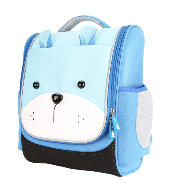 Nohoo Jungle Kids School Bag - Sapiential Bear Blue
