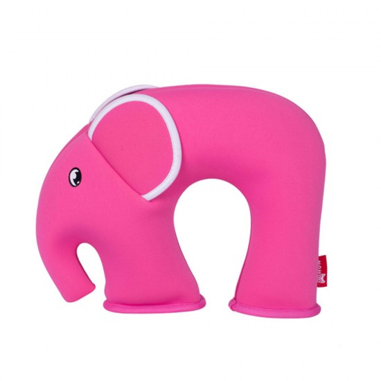 Nohoo Jungle Travel Pillow -Elephant Pink