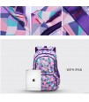 SB Geometrical XXL School Bag - Purple