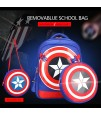 SB Captain A School Bag with Pencil Case and Lunch Bag - Blue