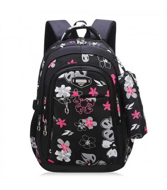 SB Floret School Bag-Black