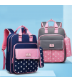 Sambox - Star Kids School Bag with Pencil Case - Polka Navy