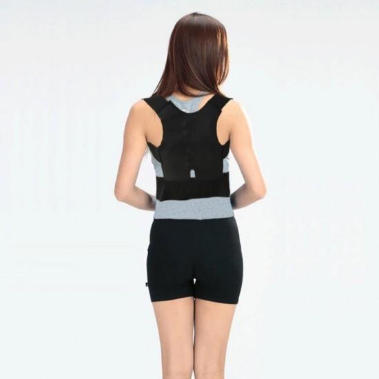 Eazy Kids Posture Correction Back Support Belt - Black (L)