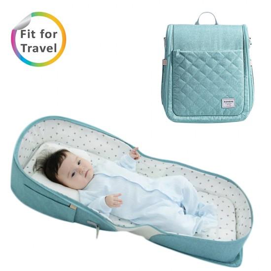 Sunveno Portable Baby Bed & bag- Sea Green