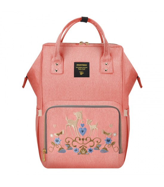 Sunveno Diaper Bag - Pink Deer