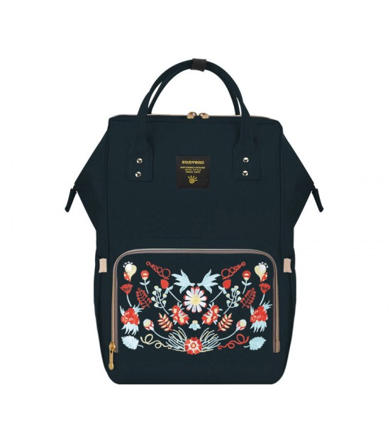 Sunveno Diaper Bags - Black Embroidery