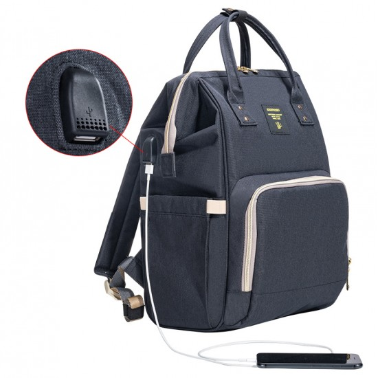 Sunveno Diaper Bag with USB - Black