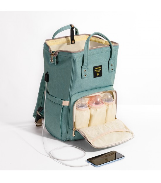 Sunveno Diaper Bag with USB - Green