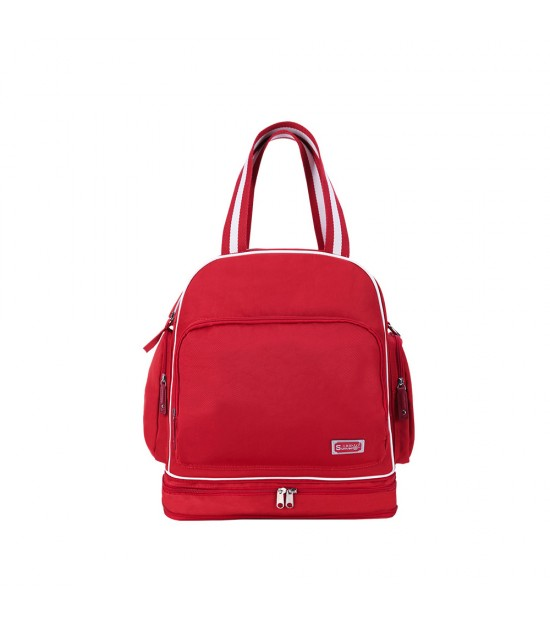 Sunveno Signature Maternity Diaper Bag - Red