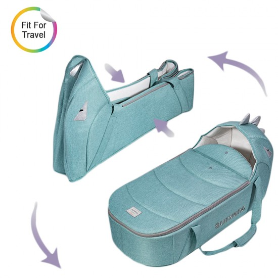 Sunveno Foldable Travel Carry Cot - Green