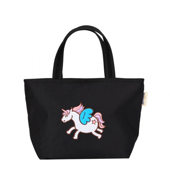 SUNVENO Insulated Lunch / bottle Tote Bag - Black Horse